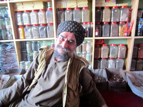 J. K. Sharma, a Sikh magician at his shop in Shor Bazaar in Kabul, Afghanistan, on Aug. 7.